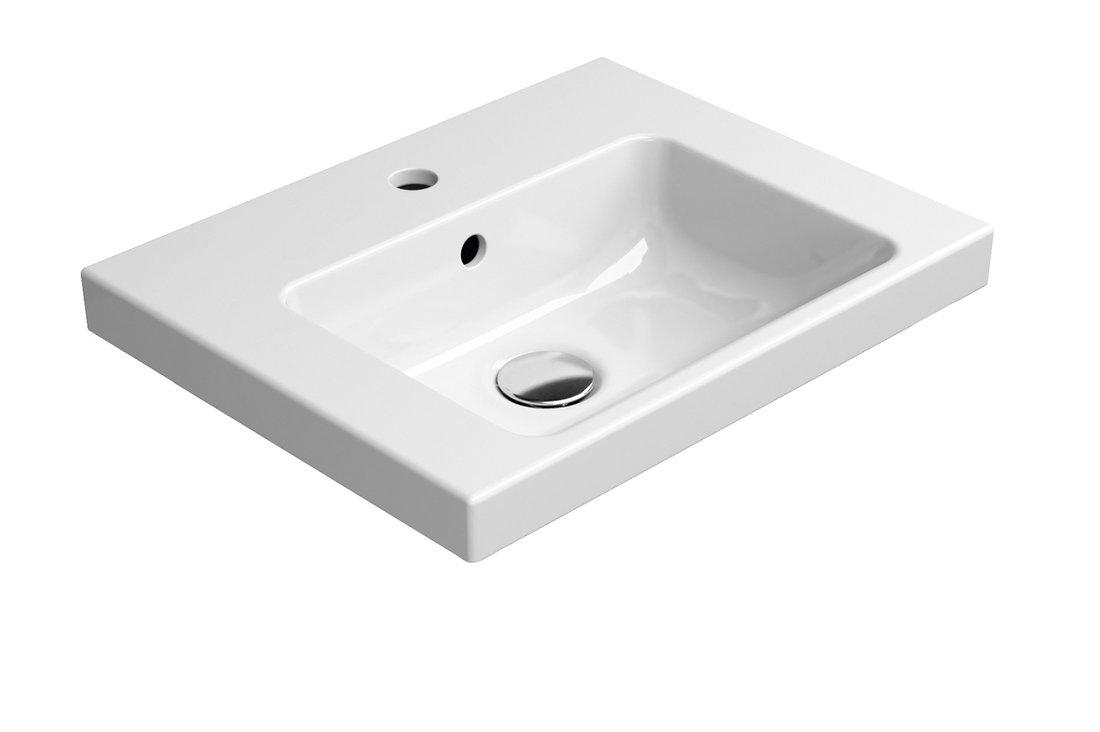 NORM keramické umyvadlo 50x18x40 cm, bílá ExtraGlaze