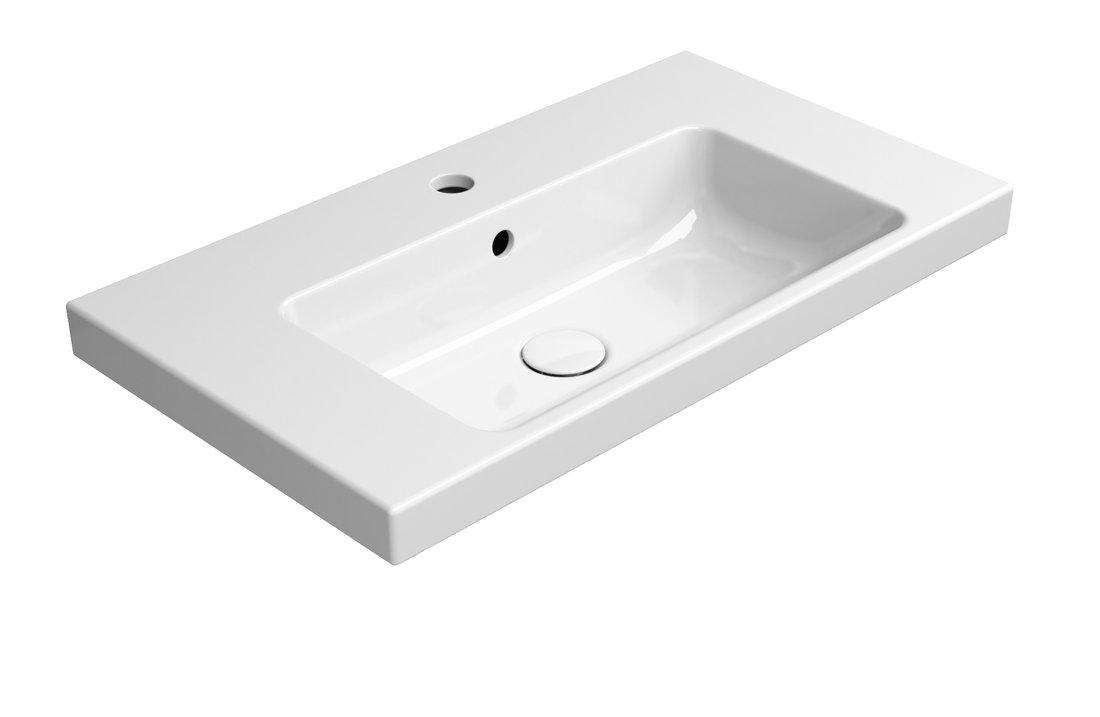 NORM keramické umyvadlo 70x18x40 cm, bílá ExtraGlaze