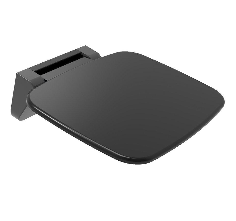 SAAP BLACK sprchové sedátko, 35x32,8cm, sklopné, černá mat