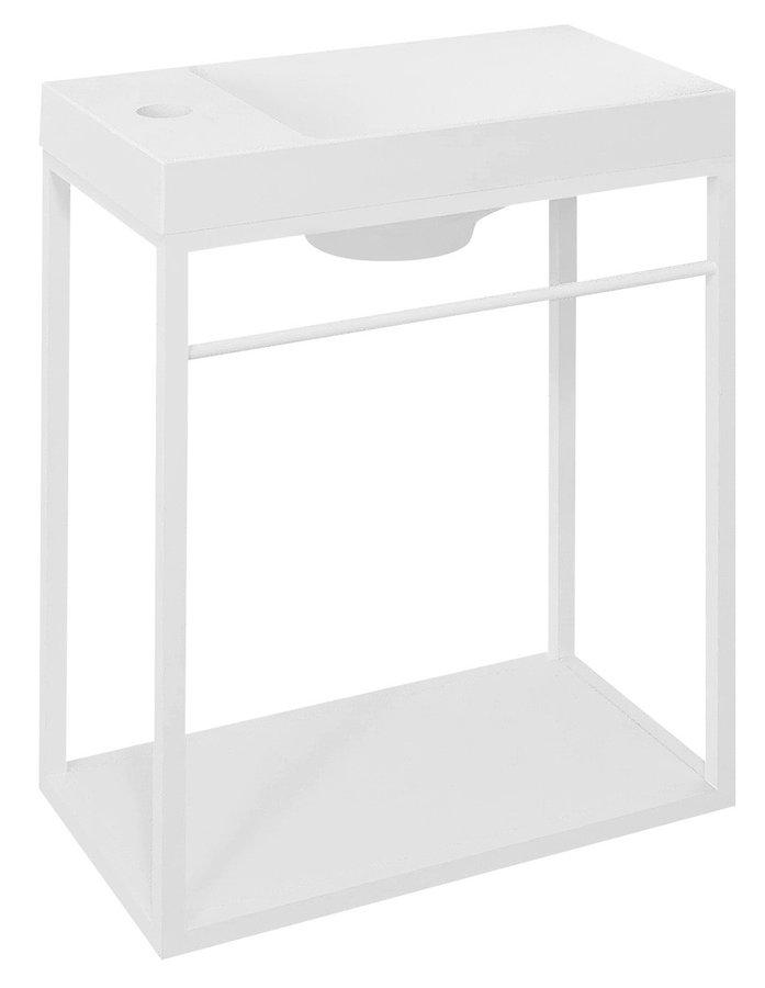 CREST konstrukce s policí, 39,5x45x21,7cm, bílá mat