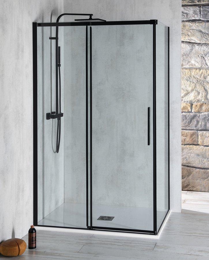 ALTIS LINE BLACK obdélníkový sprchový kout 1100x800 mm, L/P varianta