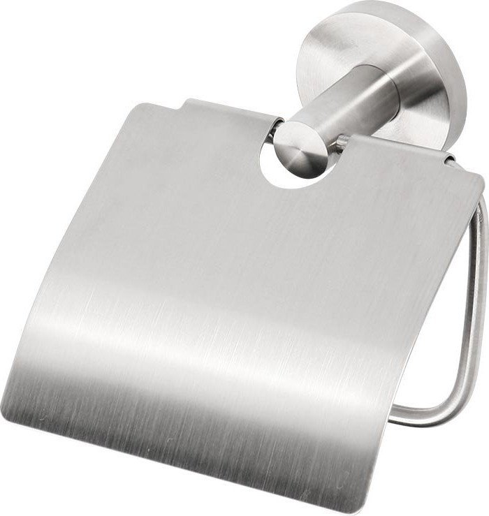 X-STEEL držák toaletního papíru s krytem, broušený nerez