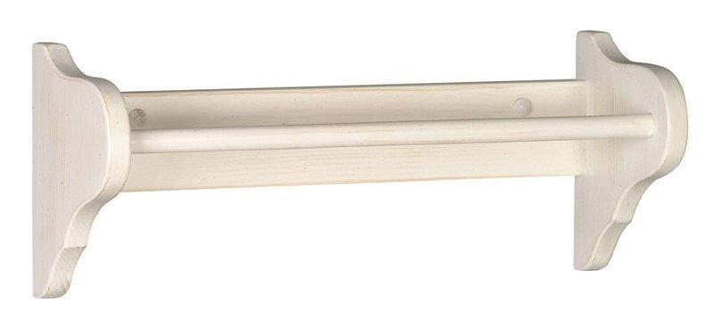 RETRO držák na ručníky 50x17cm, starobílá