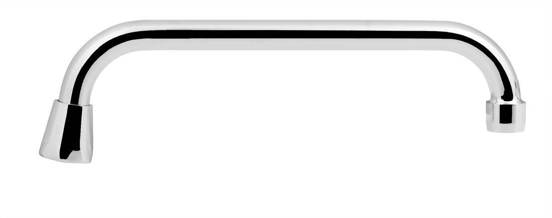 Universální výtokové ramínko kbaterii, 25cm, typ-U, chrom
