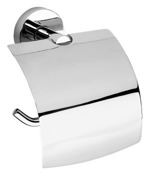 X-ROUND E držák toaletního papíru s krytem, chrom