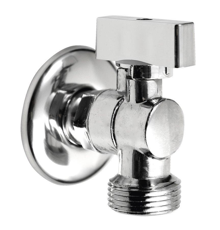 Pračkový kulový ventil se zpětným ventilem 1/2'x3/4' - L, chrom