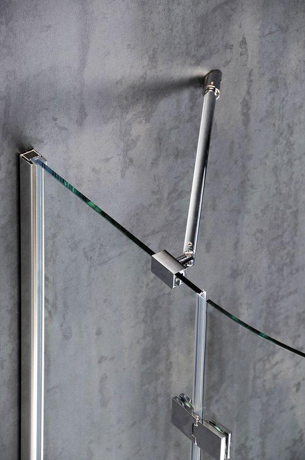 Rohová vzpěra stěna / sklo, chrom