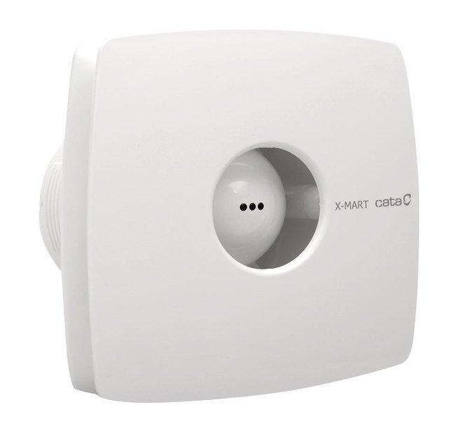 X-MART 10T koupelnový ventilátor axiální s časovačem, 15W, potrubí 100mm, bílá