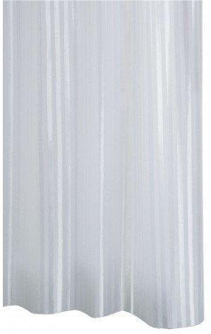 SATIN sprchový závěs 180x200cm, polyester, bílá