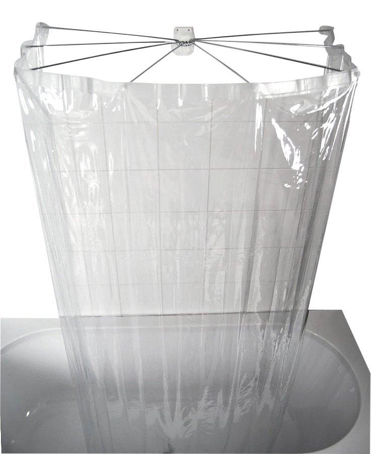 OMBRELLA skládací sprchová kabina, 100x70cm, průhledná