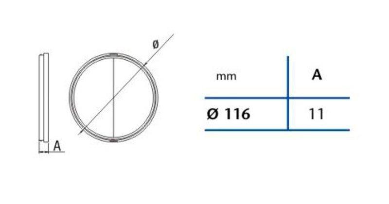Zpětná klapka 120mm