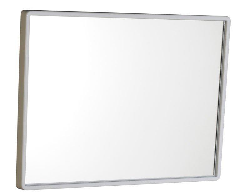 Zrcadlo 40x30cm, plastový bílý rám