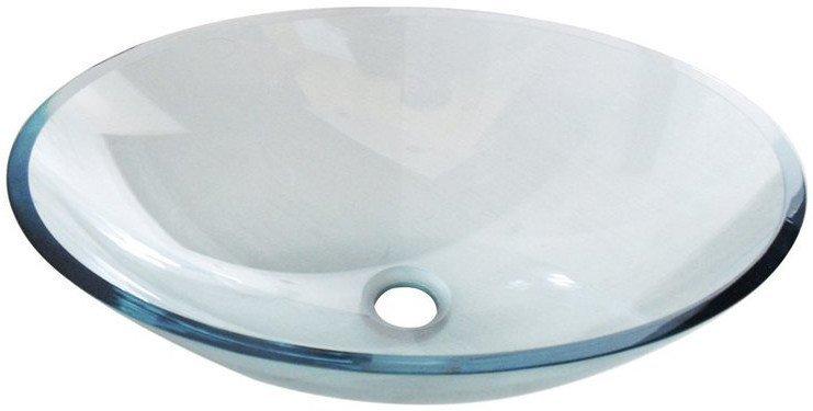PURE skleněné umyvadlo oválné 52x37,5 cm, čirá