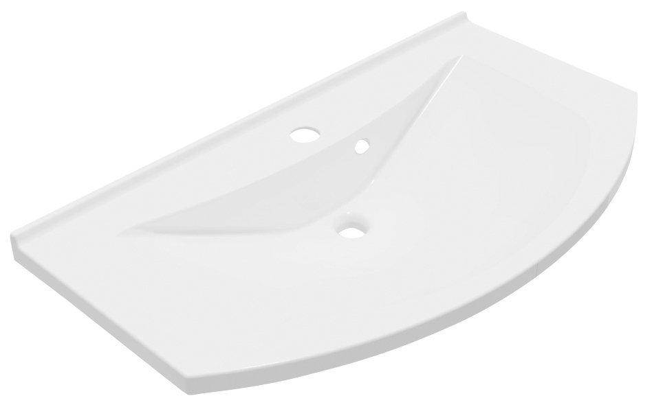 ARAS umyvadlo 90x50,5cm, litý mramor, bílá