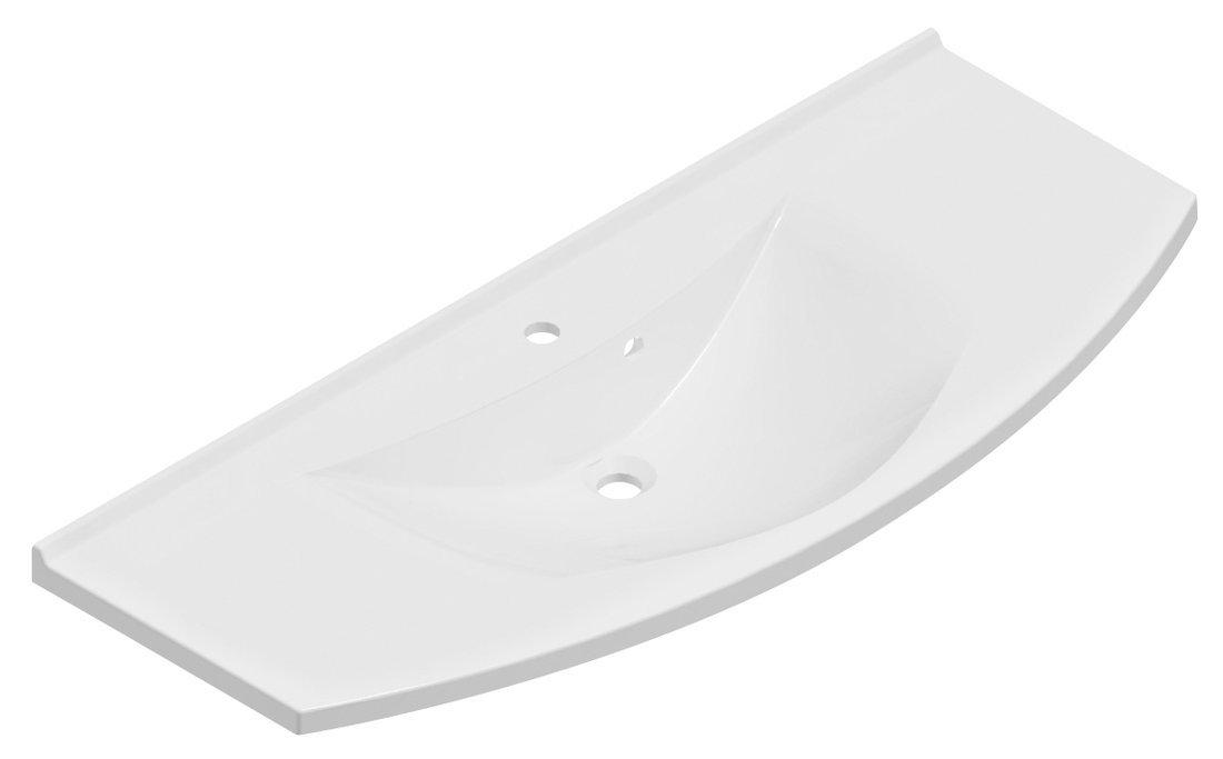 ARAS umyvadlo 120x50,5cm, litý mramor, bílá
