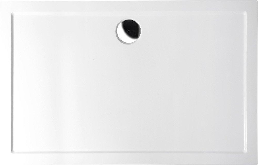 KARIA sprchová vanička z litého mramoru, obdélník 110x80x4cm, bílá