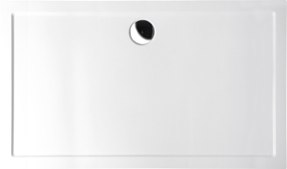 KARIA sprchová vanička z litého mramoru, obdélník 120x70x4cm, bílá