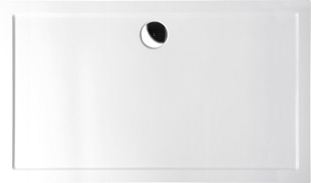 KARIA sprchová vanička z litého mramoru, obdélník 120x80x4cm, bílá