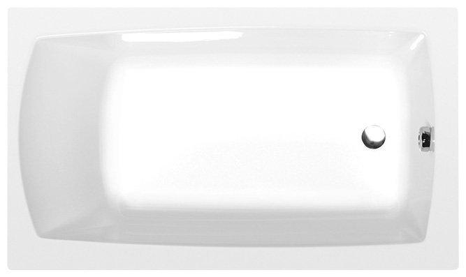 LILY obdélníková vana 120x70x39cm, bílá